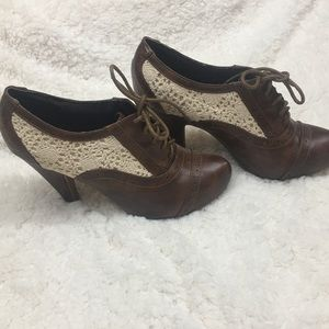 Not Rated lace up heels size 8 1/2